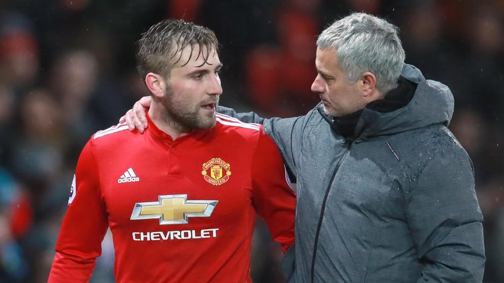 TILBAKE FRA SKADE: Luke Shaw har overbevist Jose Mourinho om at han er verdt å satse på videre.