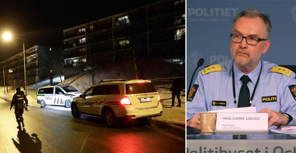 SKUTT: En person ble skutt på Holmlia sørøst i Oslo tidligere denne uken. Politimester Hans Sverre Sjøvold sier at gjenger krangler om revirer i området.