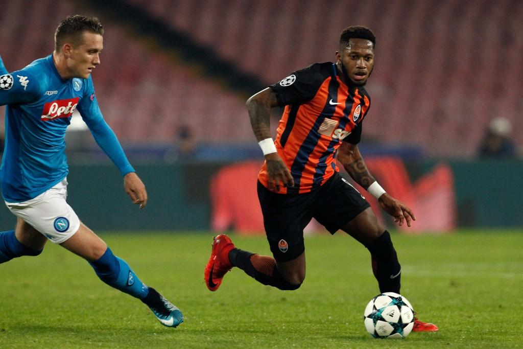 KLAR FOR CITY: Shaktar Donetsks Fred (til høyre) skal være klar for en overgang til Manchester City til sommeren.