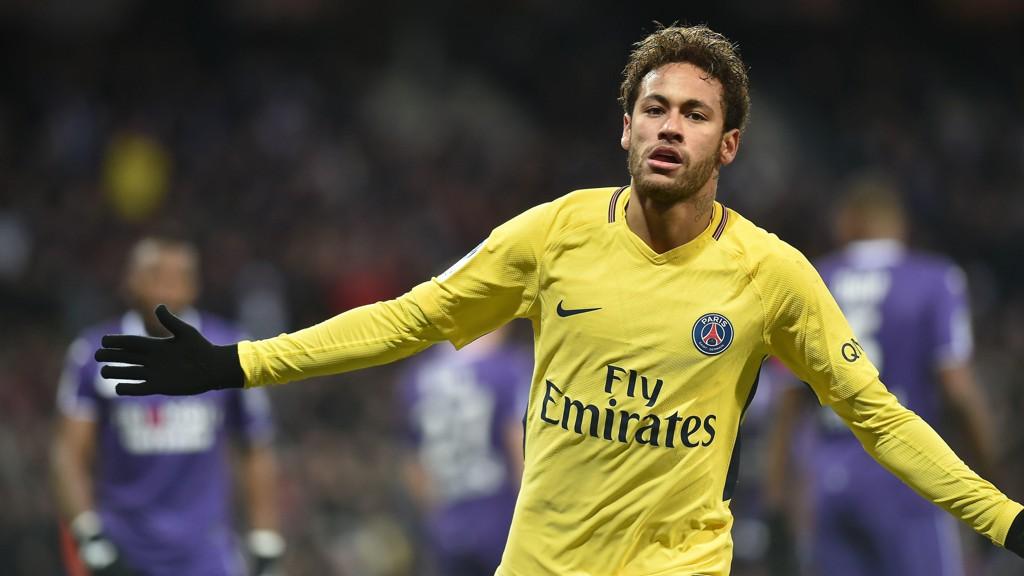 HERO: Neymar ordnet 1-0-seieren for PSG over Toulouse.