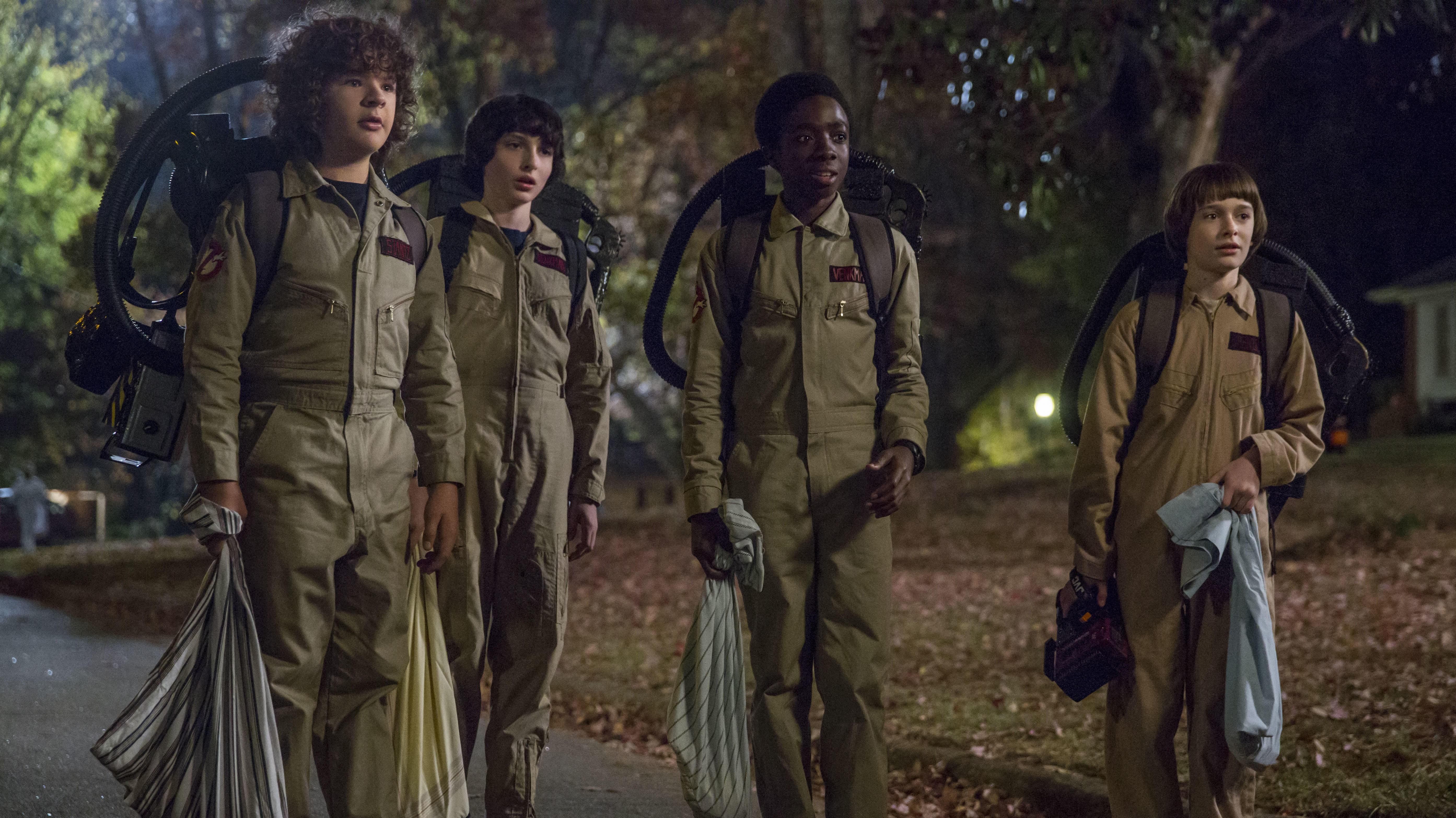 GODT BETALT: Netflix-suksessen «Strangers Things» gir mynt i kassa til barneskuespillerne i serien. De får alle rundt 30.000 dollar for hver episode. Her fra sesong to.