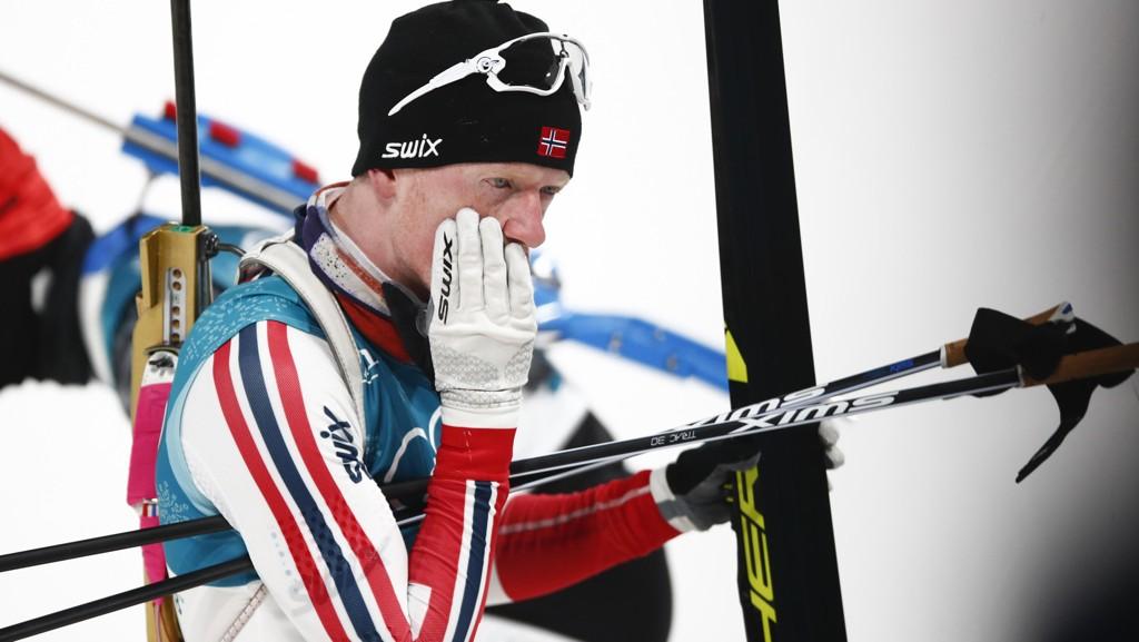SKUFFET: Johannes Thingnes Bø var skuffet etter søndagens sprintrenn i Pyeongchang.