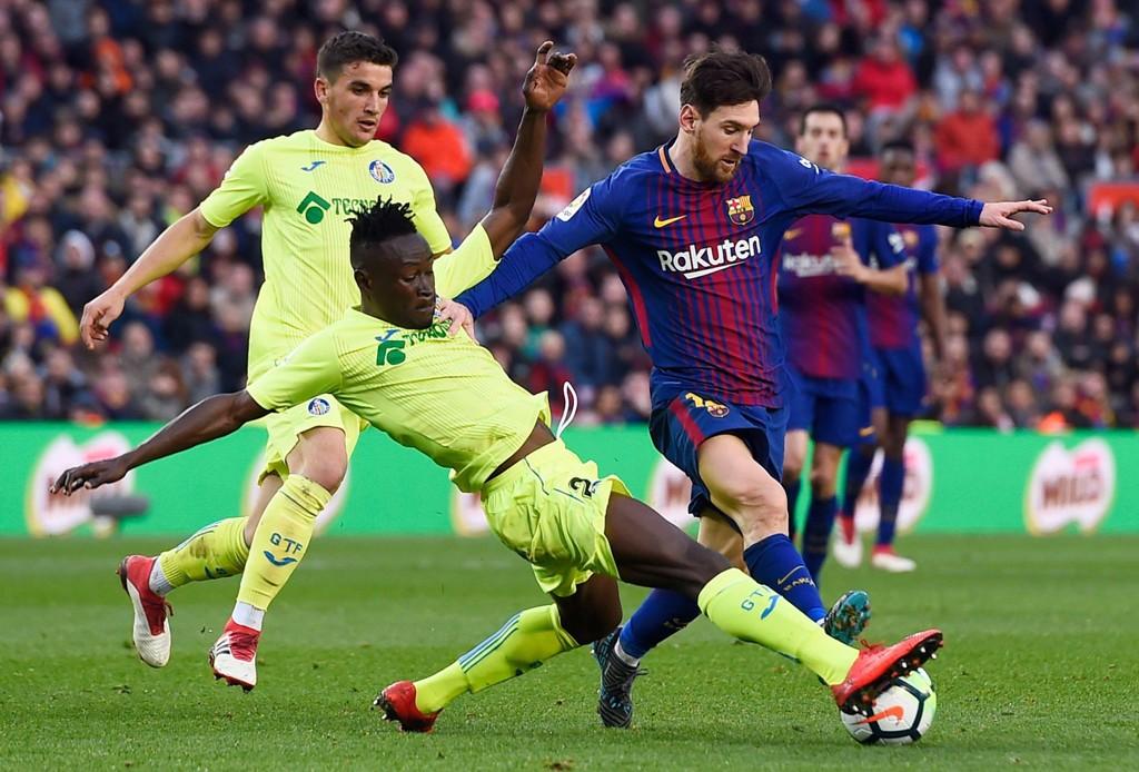SNUBLET: Lionel Messi og Barcelona fant ikke veien forbi Getafe og Djené Dakonam.