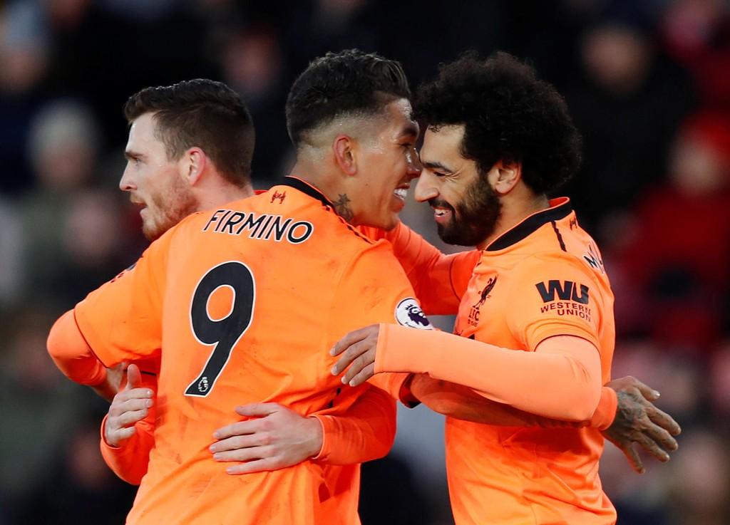 LEKENT ANGREP: Liverpools Roberto Firmino og Mohamed Salah sto bak kampens store øyeblikk borte mot Southampton.
