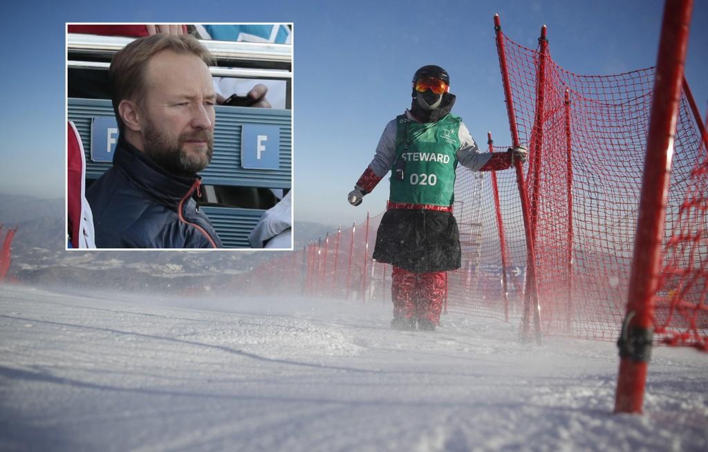 VIND OG KULDE: Kjetil Andre Aamodt har fått kjenne på kuldegradene i Pyeongchang.