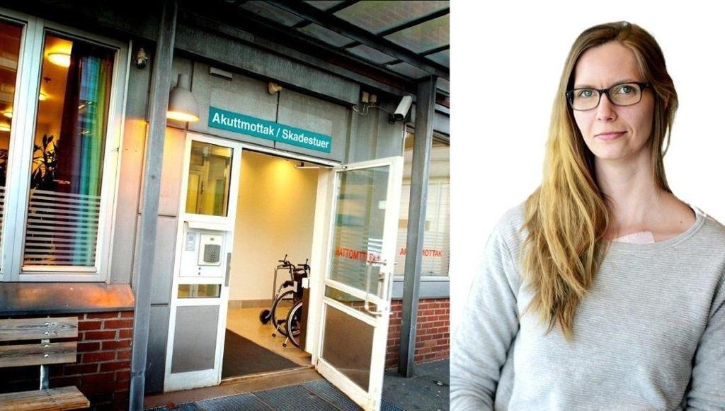 TRAVELT: Akuttmottaket i Tønsberg er et hektisk sted - noen ganger blir det mye venting. Journalist Silje Gomnæs har noen gode betraktninger