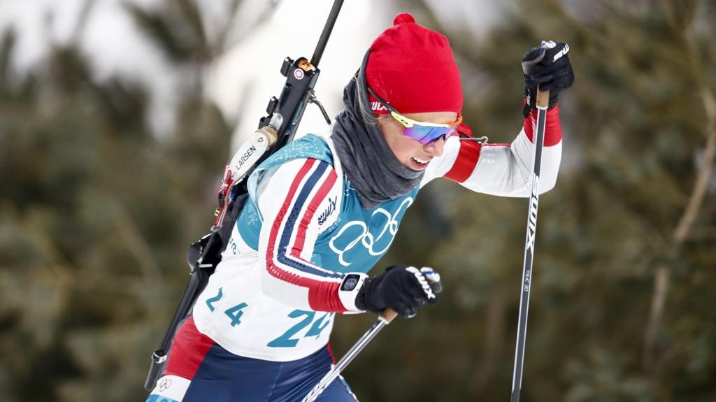 KALDT: Tiril Eckhoff innrømmer at hun aldri har gått skirenn med mer klær enn hun gjorde mandag. Hun gikk seg opp fra 24. til 9. plass.