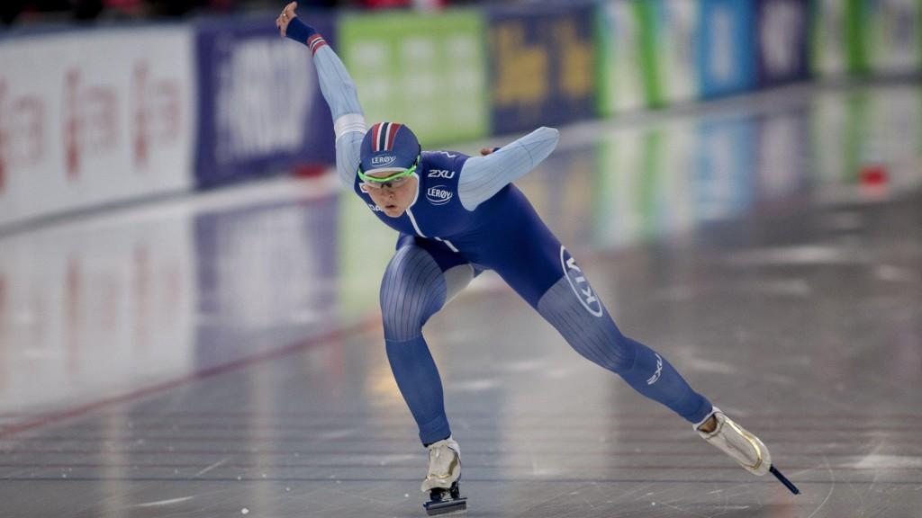 I AKSJON: Hege Bøkko i aksjon i Sørmarka Arena.