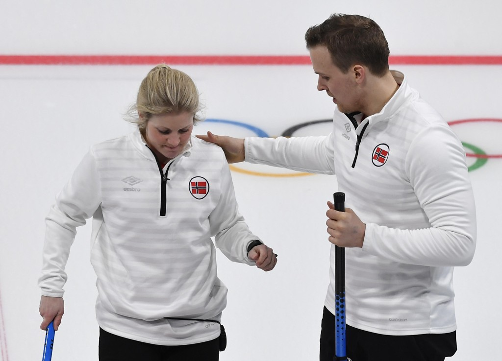 FJERDEPLASS: Kristin Skaslien og Magnus Nedregotten måtte ta til takke med fjerdeplass etter tap mot russerne i bronsefinalen.