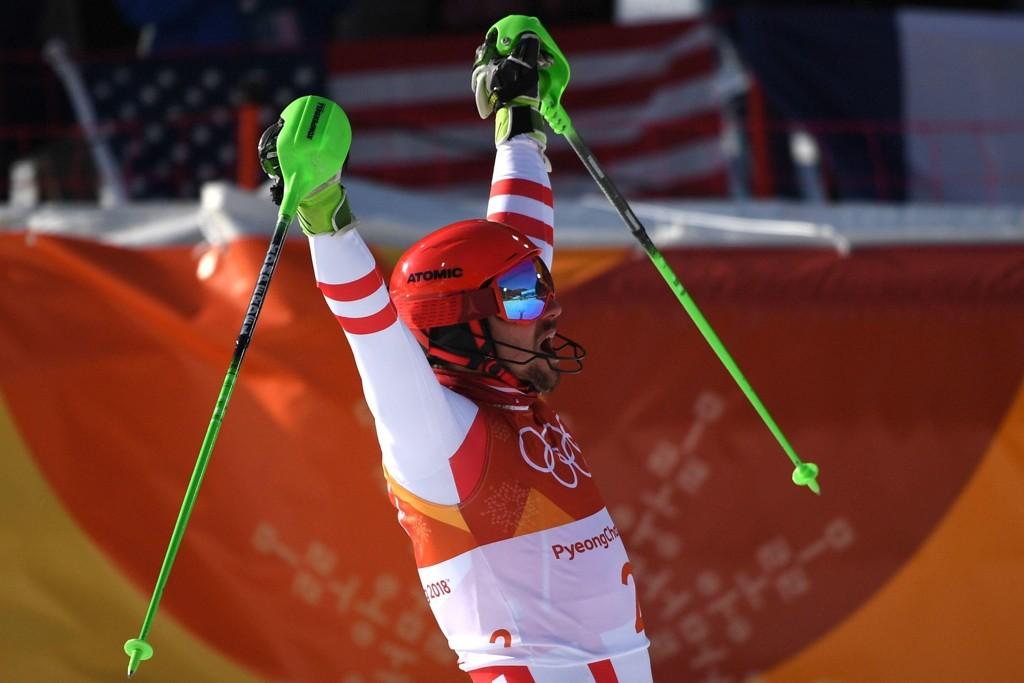 GULL: Marcel Hirscher kunne juble for karrierens første OL-gull.