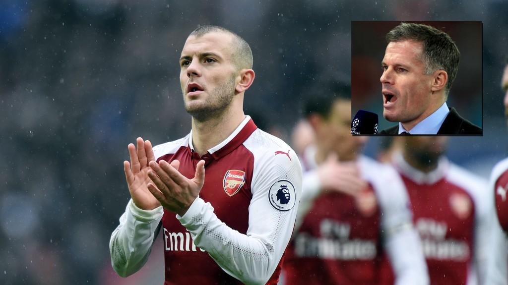 TAPTE: Jack Wilshere takker Arsenal-fansen for oppmøtet etter nederlaget mot Tottenham søndag. Nå får han og lagkameratene hard kritikk av Jamie Carragher.