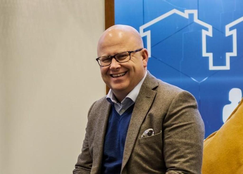 Selvaag Bolig-sjef Baard Schumann sikrer aksjonærene en utbytteavkastning på 8,5 prosent. Foto: