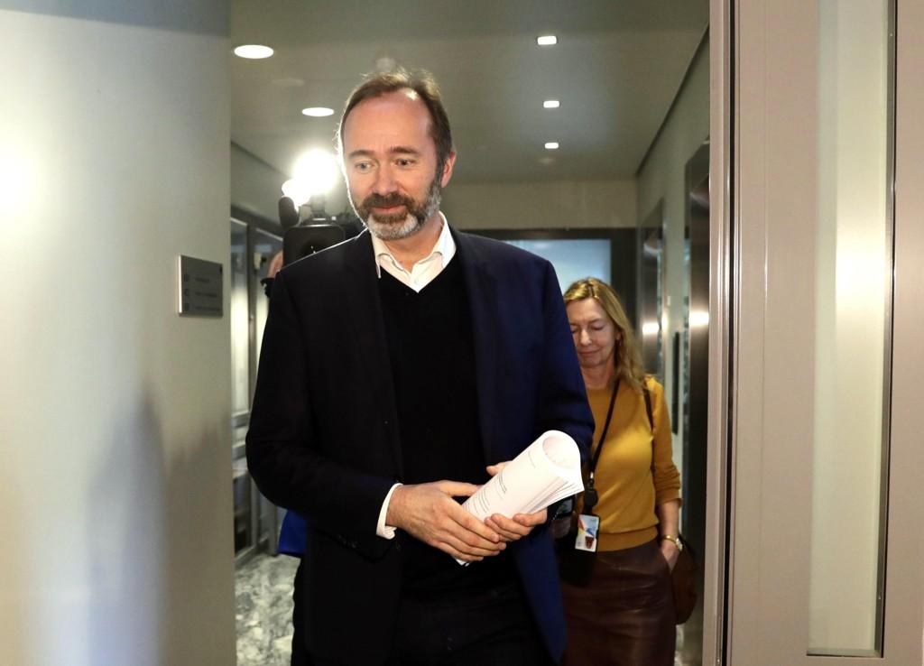 TILBAKE PÅ JOBB: Tidligere Ap-nestleder Trond Giske hadde første dag på jobb på Stortinget tirsdag etter en lang sykemelding.