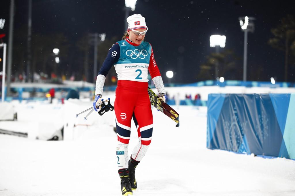SØLV: Maiken Caspersen Falla tok OL-sølv på sprinten.
