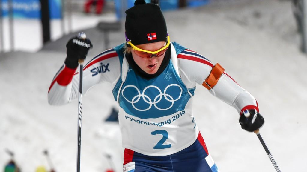 Marte Olsbu (her i aksjon på 10 km jaktstart mandag) er Norges fremste medaljehpå på onsdagens 15 km.
