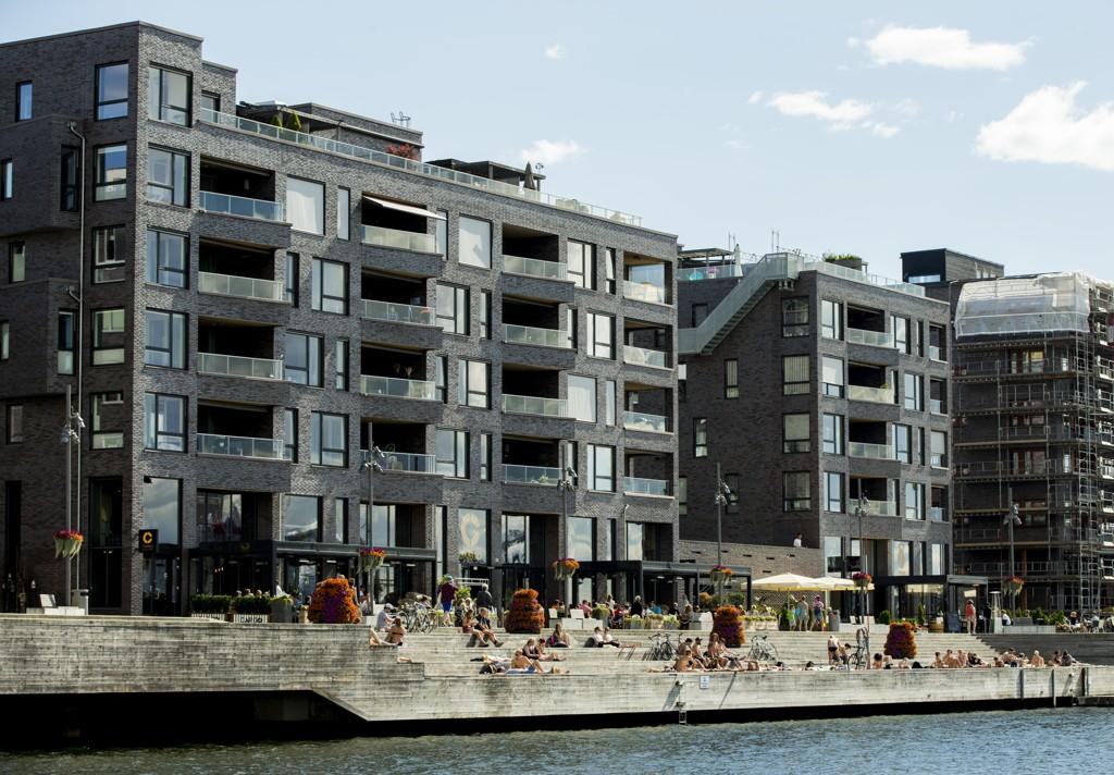 Salget av nye boliger, som her på Sørenga i Oslo, er svakt for tiden.