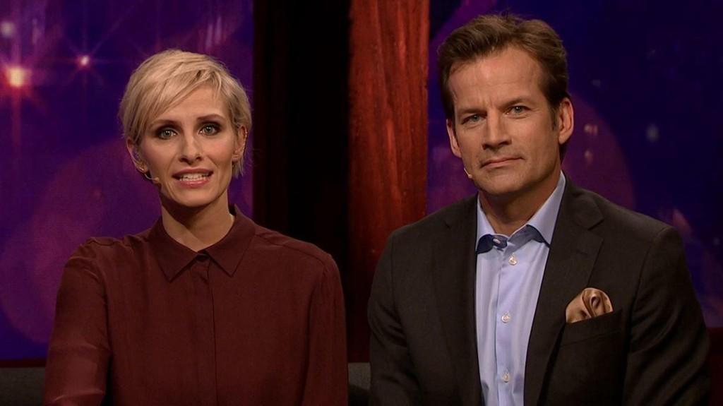 PROGRAMLEDERE: Anne Rimmen og Jon Almaas leder OL-kveld på TVNorge. Nettavisens blogger, Torbjørn Nordvall, mener programmet fokuserer for lite på Sveriges prestasjoner.