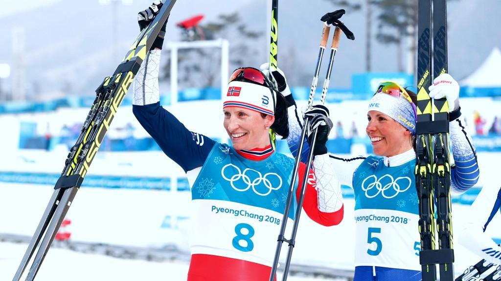 ÉN OG TO? Marit Bjørgen og Charlotte Kalla skal ut i en siste OL-duell på avslutningsdagen.