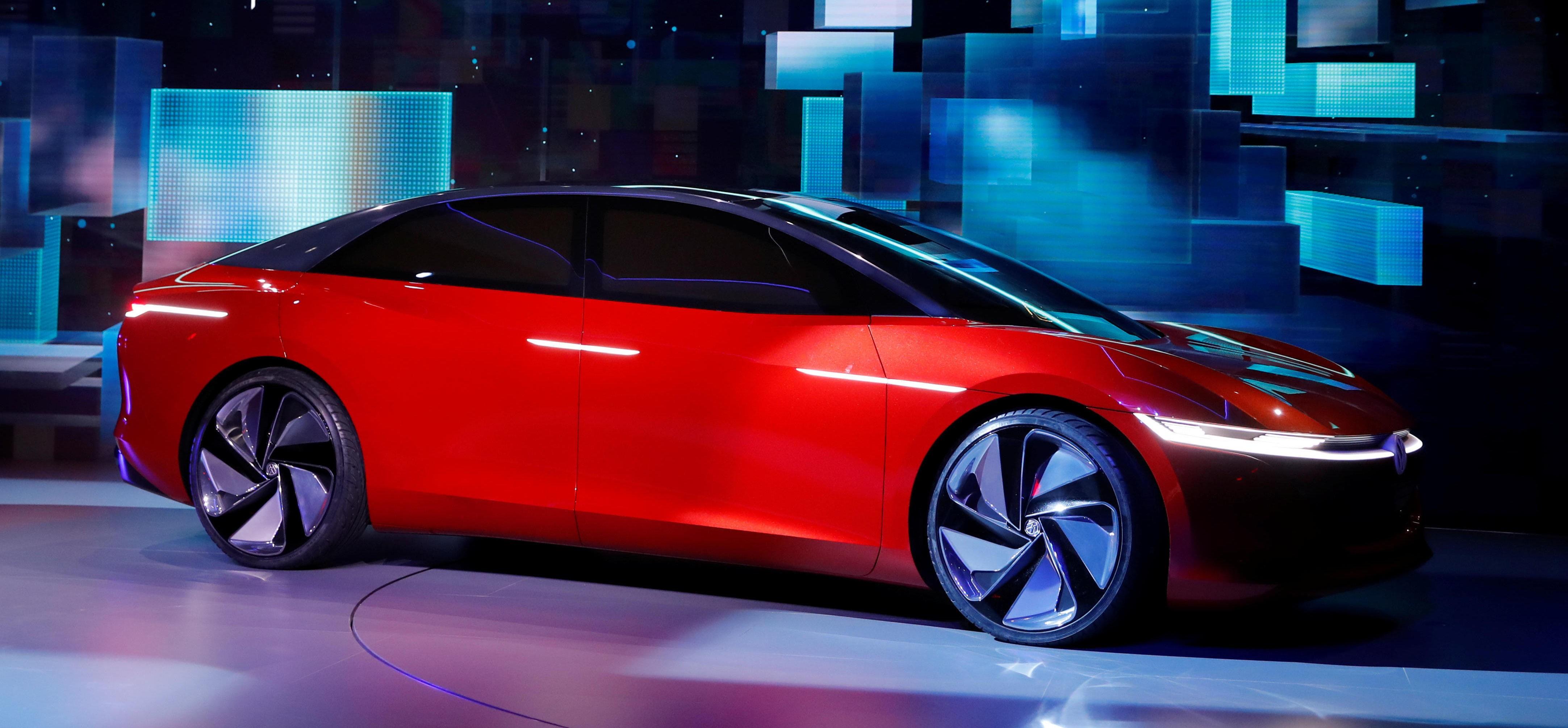 Akkurat offisiell: VW I.D. VIZZION debuterer på bilutstilingen i Geneve akkurat nå.