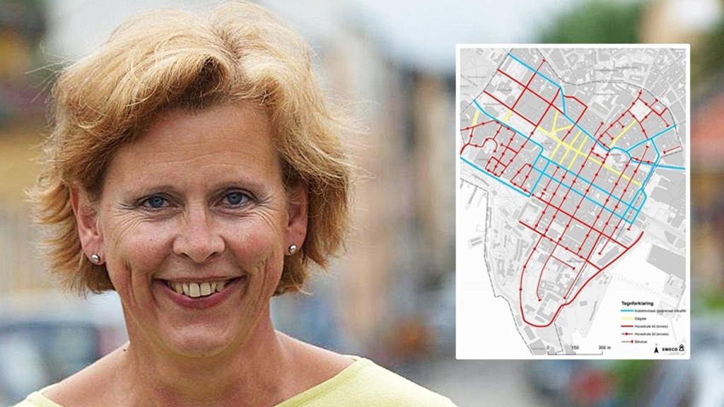 HØRING: Bystyrepolitiker Camilla Wilhelmsen (Frp) krever høring om byrådets fjerning av parkeringsplasser og endring av kjøremønster (bildet) i Oslo sentrum.