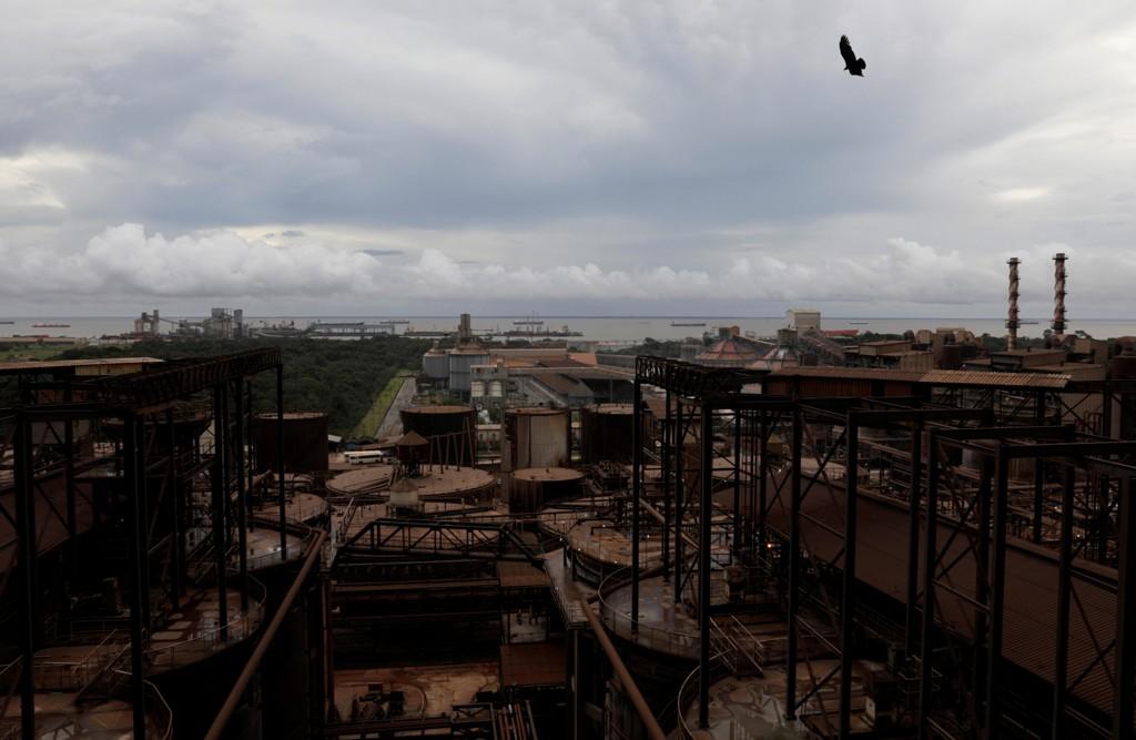 UTSLIPP: Oversiktsbilde ra Hydros aluminumsraffineri Alunorte i Brasil.