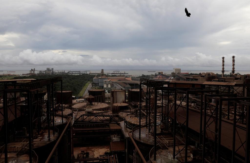 Oversiktsbilde fra Hydros aluminumsraffineri Alunorte i Brasil.