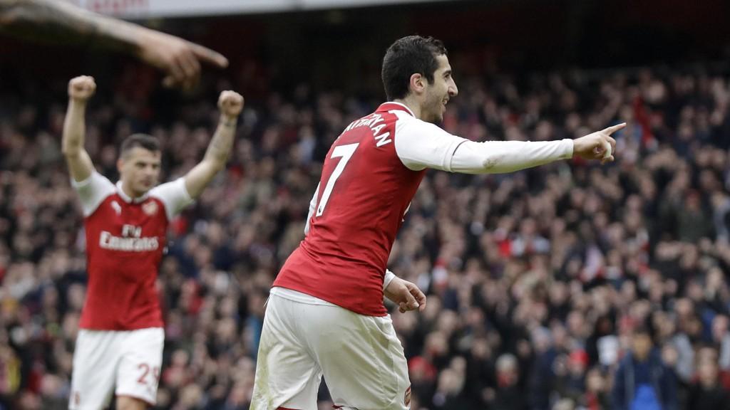 Henrikh Mkhitaryan scoret det viktige 1-0 målet for Arsenal borte mot Milan forrige torsdag og kom også på scoringslisten for Arsenal hjemme mot Watford søndag.