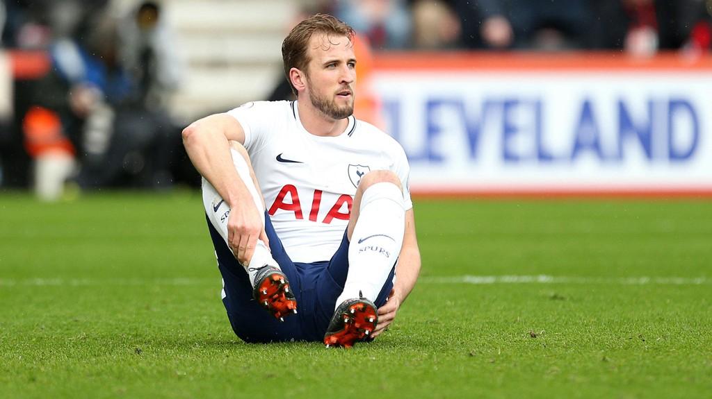 ANKELSKADE: Harry Kane måtte ut med en ankelskade mot Bournemouth.