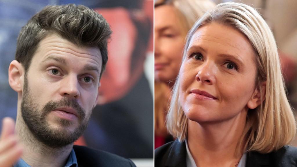 HANDLEKRAFTIG: Rødt-leder Bjørnar Moxnes fremmer mistillitsforslag mot justisminister Sylvi Listhaug (Frp).