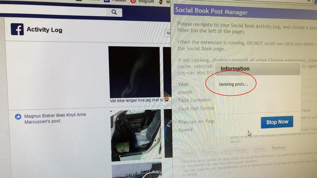 Med et lite tillegg i nettleseren kan du slette nesten alt du har gjort på Facebook de siste ti årene - uten at du selv må slette hvert enkelt innlegg manuelt.