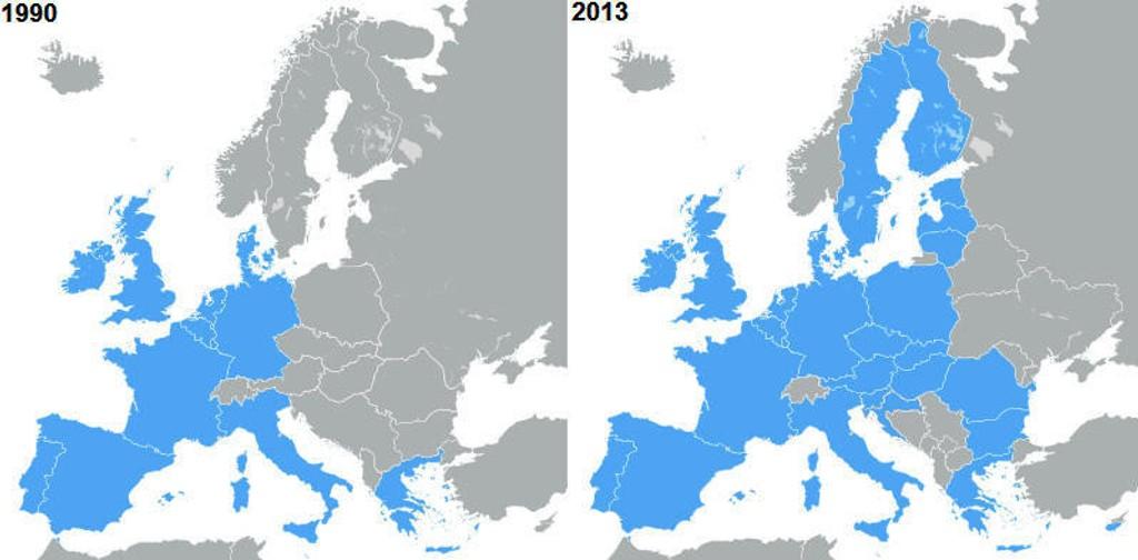 Da Norge sa ja til EØS-avtalen var EU en union av Vest-Europeiske land. Siden den gang har unionen blitt utvidet med 15 land og rundt 180 millioner innbyggere, som pålegger Norge rundt 500 nye regelverk hvert år.
