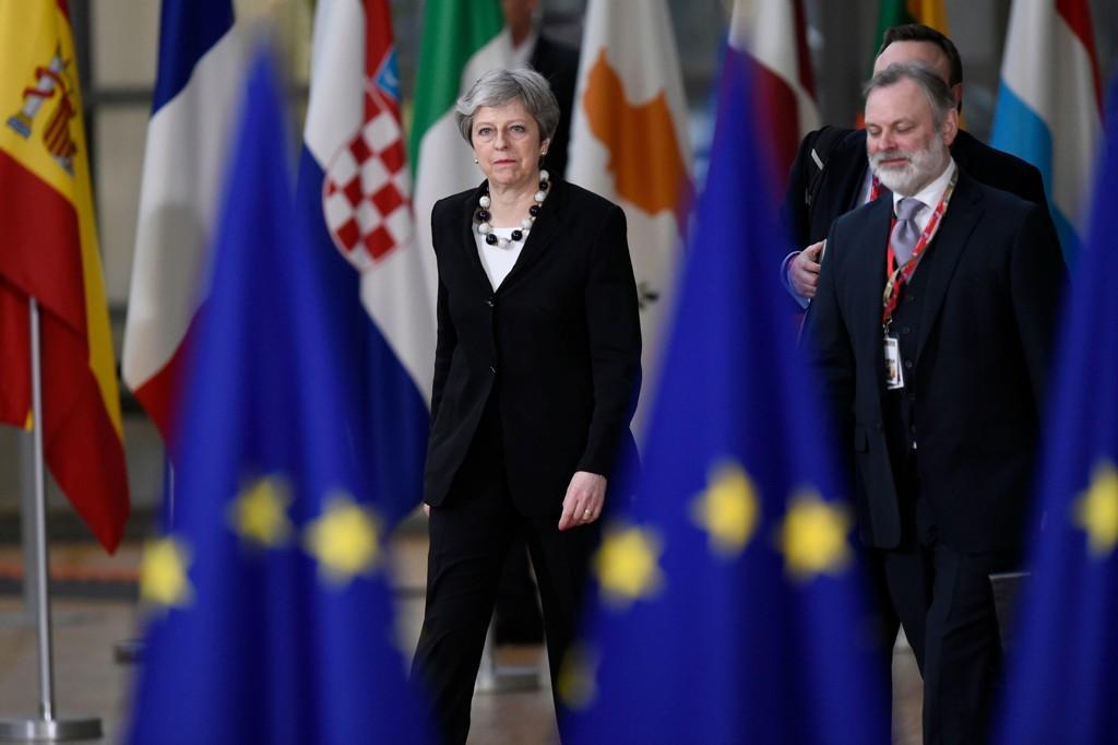 Storbritannias statsminister Theresa May i forbindelse med EUs toppledermøte i Brussel.
