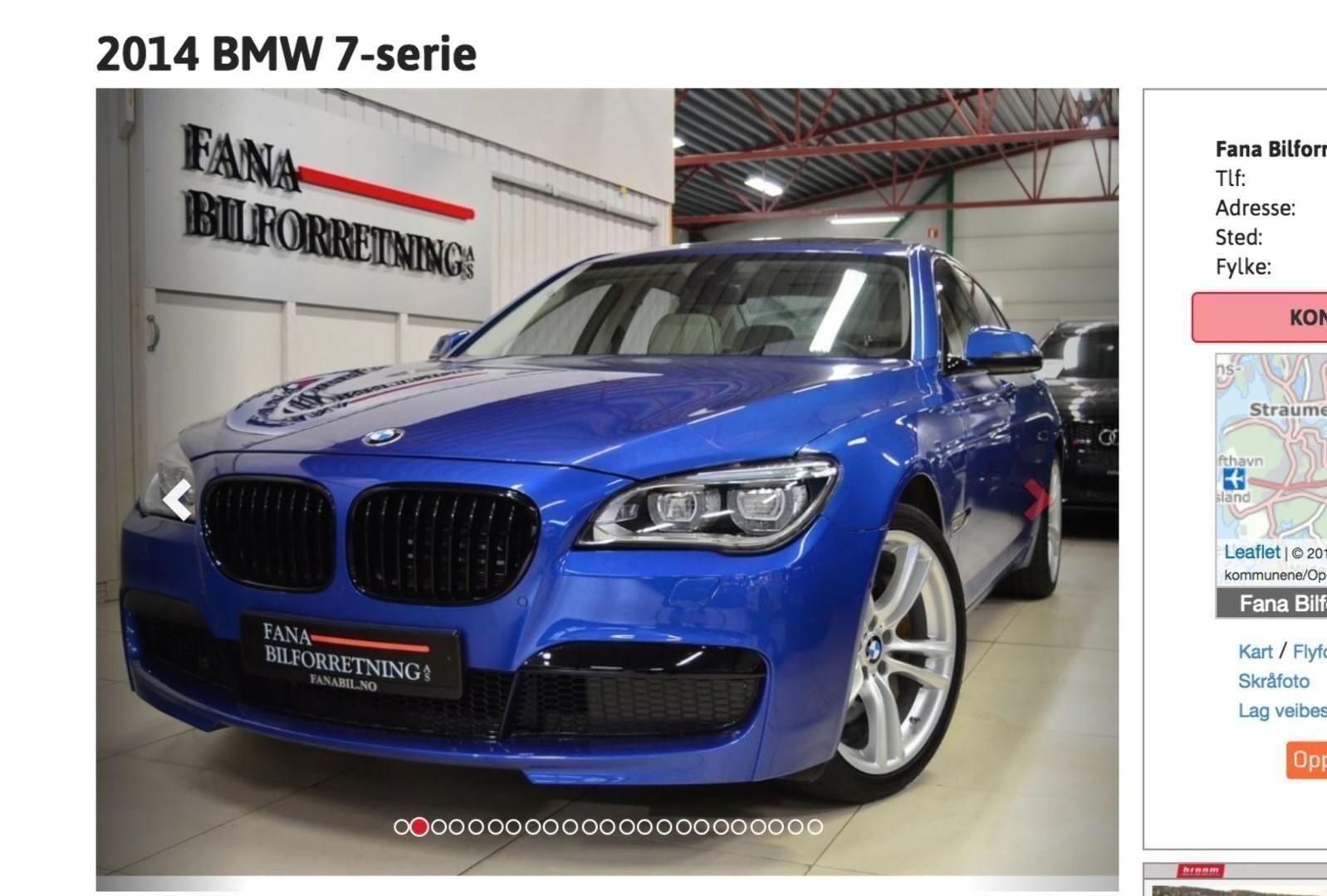 SKILLER SEG UT: Denne knallblå BMW-en er slett ikke som alle andre BMW-er – og det er ikke bare den spreke fargen som gjør at den skiller seg ut ... Faksimile: Autodb.no
