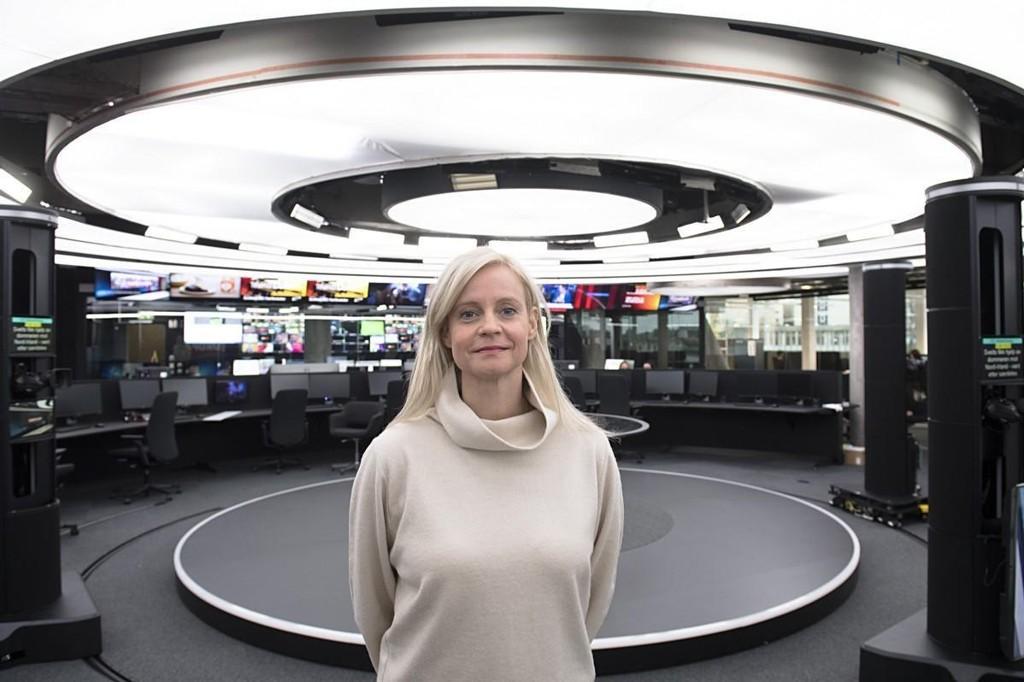 Illustrasjonsfoto: Nyhetsredaktør Karianne Solbrække i TV2s nye studio i Media City Bergen.