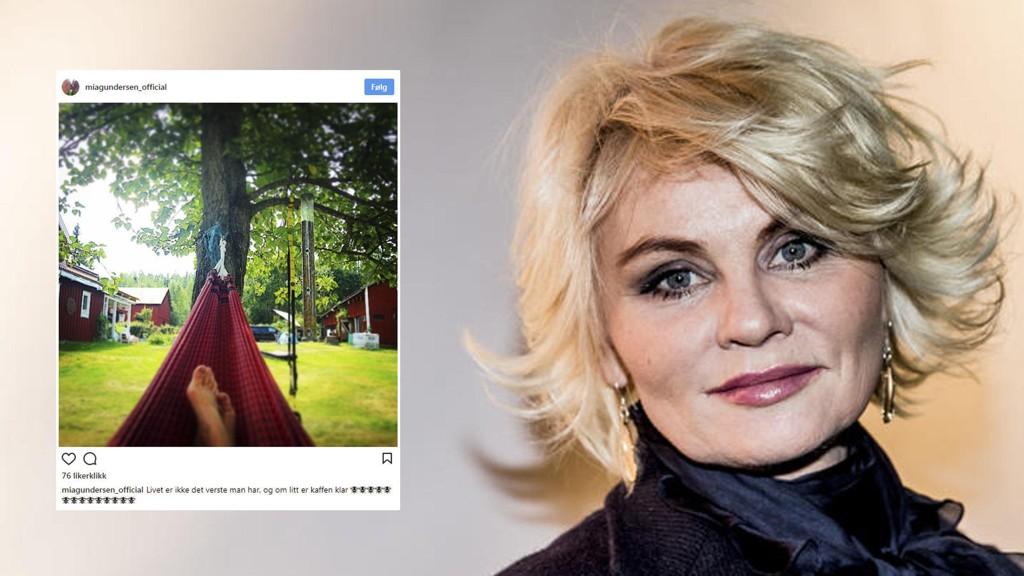 MIA GUNDERSEN selger feriestedet i Sverige.