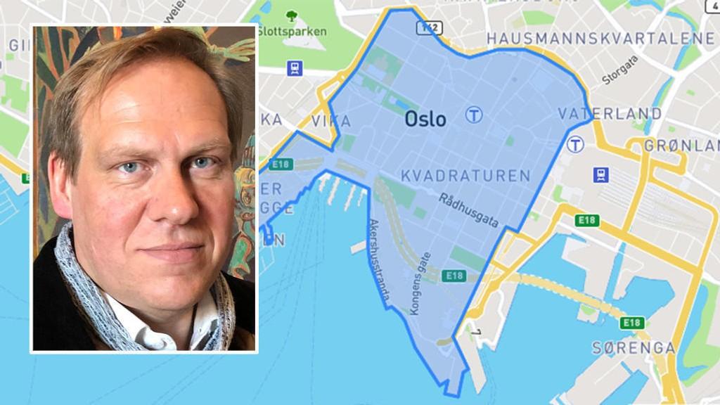 TIL HINDER: Næringspolitisk talsperson i Oslo Handelsstandsforening, Jon Anders Henriksen, mener fjerningen av parkeringsplassene i Oslo sentrum så langt har vært til hinder for handelen i sentrum.
