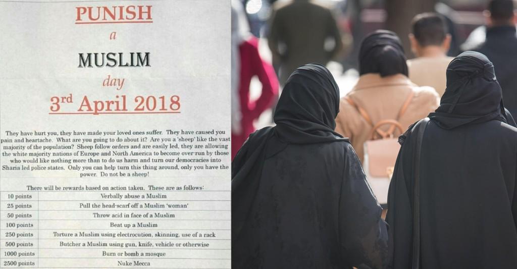 SKAPER FRYKT: Dette arket, sendt fra anonyme kilder, skaper frykt blant muslimer.