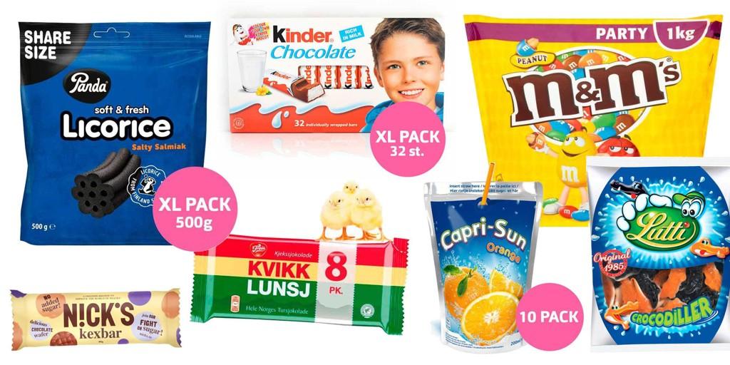 Du kan spare mye penger på å bestille godteri, snacks og brus fra Sverige.