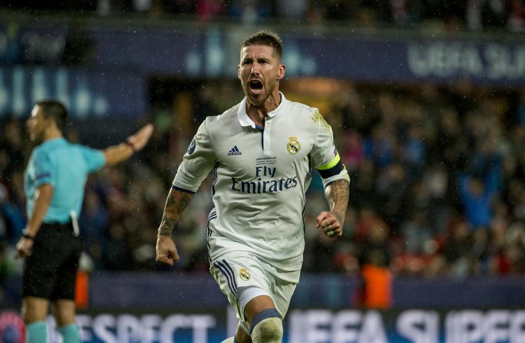 Real-kaptein Sergio Ramos ble ikke ytterligere straffet etter at han ble sett både nær benken og banen i onsdagens kvartfinale til tross for at han var suspendert. Foto: Ned Alley / NTB scanpix