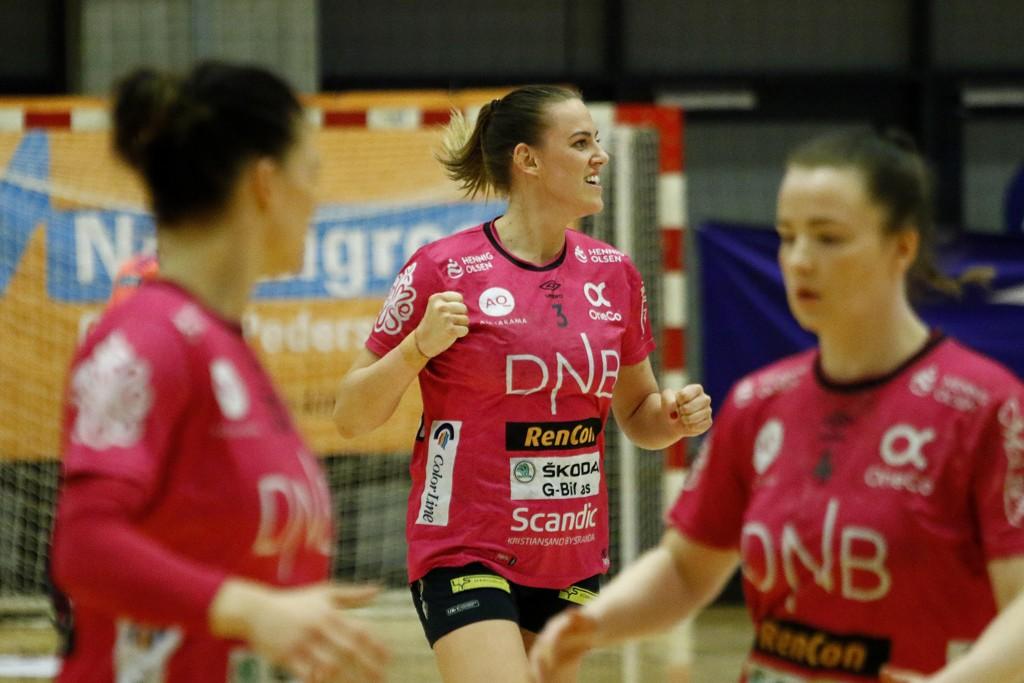 Emilie Hegh Arntzen i kamp for Vipers mot Larvik tidligere denne uken. Foto: Tor Erik Schrøder / NTB scanpix.