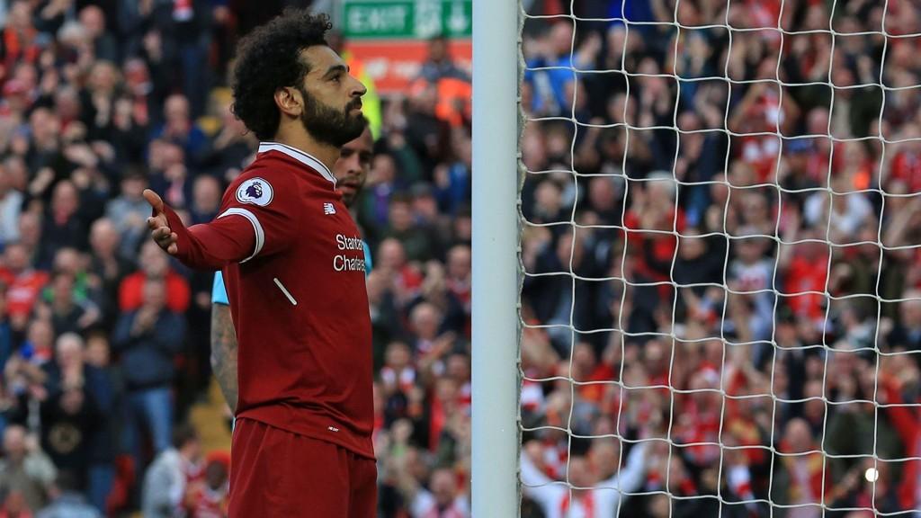 KONGEN AV ANFIELD: Mohamed Salah scoret seriemål nummer 30 for Liverpool denne sesongen.