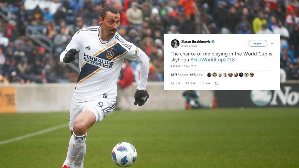 SKYHÖGA: Zlatan hinter mot at han kan være en del av Sveriges VM-tropp i Russland denne sommeren.