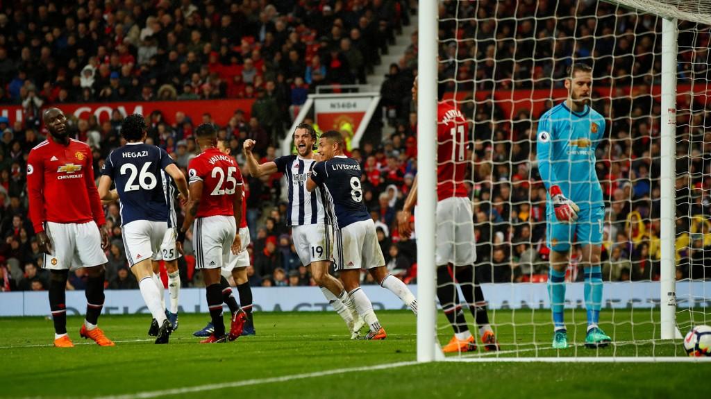 SCORINGEN: Jay Rodríguez scoret målet som sikret West Bromwich alle poengene, og Manchester City seriemesterskapet.