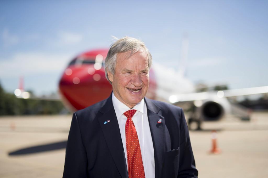 Norwegian-sjef Bjørn Kjos kan komme til å selge selskapet sitt til IAG. Foto: Heiko Junge / NTB scanpix
