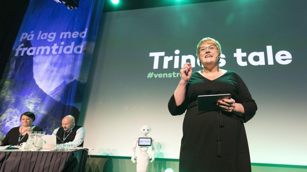 Лидер Левой либеральной партии (Venstre) Трине Шай Гранде (Trine Skei Grande) выступила с речью на партийном собрании в пятницу.