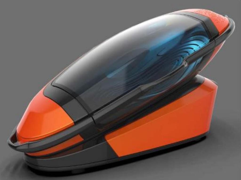 En utstillingsmodell av selvmordskapselen «Sarco» ble for første gang vist fram på en begravelsesmesse i Amsterdam sist helg. Philip Nitschke, som har utviklet kapselen, har mål om å få ferdig en prototype innen året er omme.