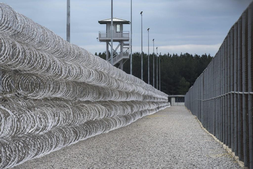 Masseslagsmålet brøt ut i Lee Correctional Institution in Bishopville i South Carolina søndag kveld. Arkivfoto: AP / NTB scanpix