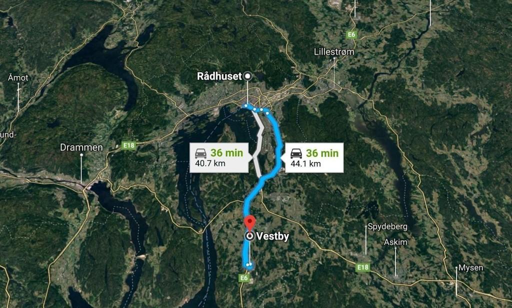 Byrådet i Oslo protesterer mot planer om økt bilbruk og parkering i Akerhus-byene - blant annet Vestby.