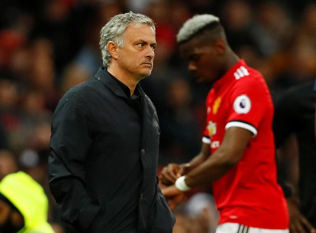 ÅPNER FOR Å SELGE: Rykter vil ha det til at José Mourinho er i ferd med å miste tålmodigheten med Paul Pogba.