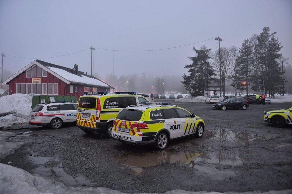 Politi og frivillige letemannskaper, noen med hunder, lette etter kvinnen gjennom natten.